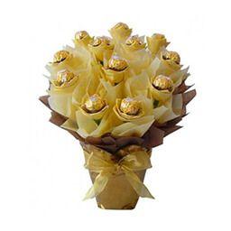 Букет из конфет золото заказать Киев