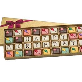 Шоколадные буквы happy birthday Киев