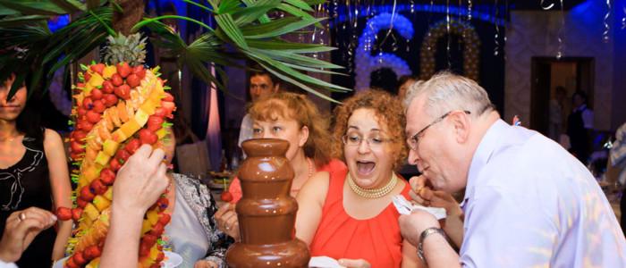 фруктовая пальма + шоколадный фонтан