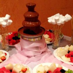 шоколадный фонтан молочный шоколад