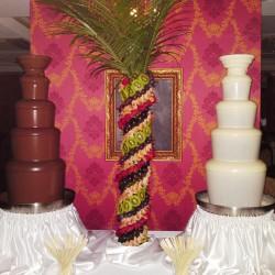 шоколадный фонтан большой, фруктовая пальма, белый шоколад фонтан,
