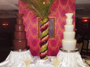 белый шоколадный фонтан, черный шоколадный фонтан