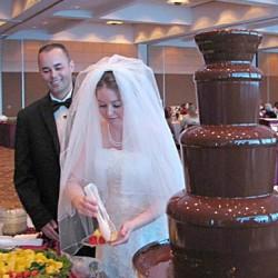 шоколадный фонтан свадьба