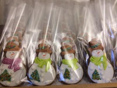 пряники-снеговики